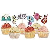 Mulan Cupcake Toppers Themed Birthday Party Cupcake Decorations - 24 Pcs Mulan Party Supplies