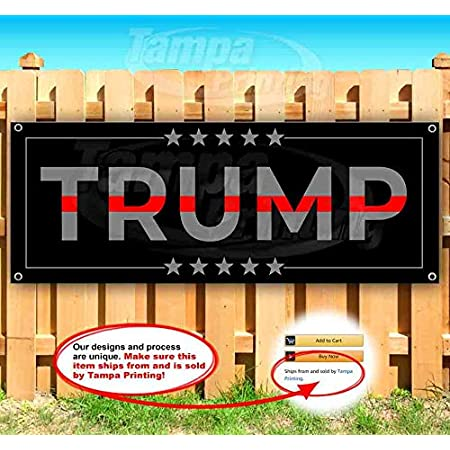 Trump Latinos 2020 13 oz Banner Heavy-Duty Vinyl Single-Sided with Metal Grommets
