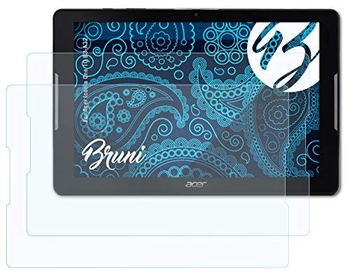Bruni Schutzfolie kompatibel mit Acer Iconia One 10 B3-A32 Folie, glasklare Bildschirmschutzfolie (2X)