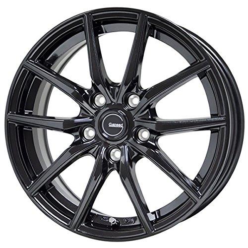 【適合車種:マツダ アクセラスポーツ(BM系)2013~】 DUNLOP ダンロップ EC202L 205/60R16 夏用タイヤとホイールの4本セット アルミホイール:HOT STUFF Gスピード G02_メタリックブラック 6.5-16 5/114 (16インチ サマータイヤセット)