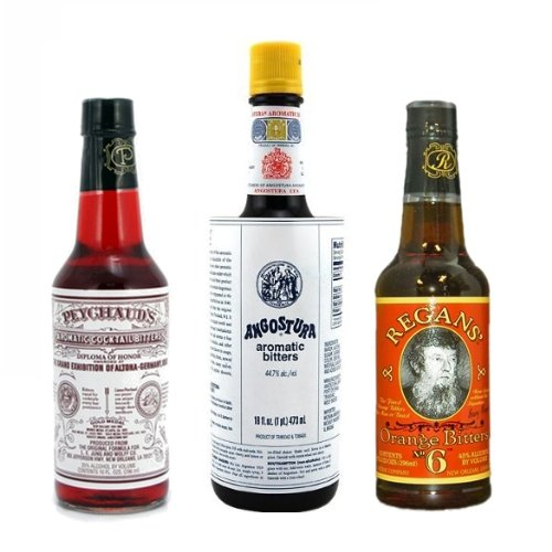 """Bitters XL """"Triple Play"""" Variety 3-Pack: Angostura, Peychauds and Regans"""