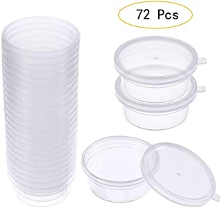 With Lids Round Plastic Bin Sundries Box Ball Cup Clay Storage Foam Container