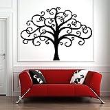 zqyjhkou Arbre Sticker Branche Vinyle Autocollant Mural Bureau Chambre Salon Maison Maison imperméable Décor Murale Mur des Forêts Art 125x94cm