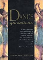 Dance Quotations (Quotation Book)
