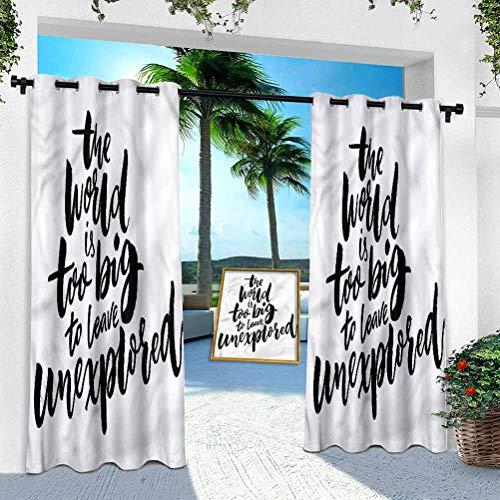 Aishare Store - Cortina para exteriores, diseño de aventura y motivación, 254 x 213 cm, resistente para interior para porche, balcón, pérgola, toldo, cenador (1 panel)