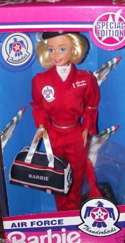 MATTEL BARBIE poupée blonde AIR FORCE special edition armée de l'air thunderbirds - pilote avion hotesse