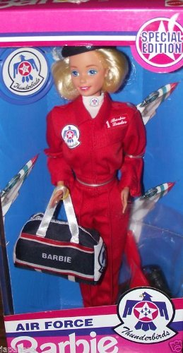 MATTEL BARBIE poupée blonde AIR FORCE special edition armée de l'air thunderbirds - pilote avion hotesse