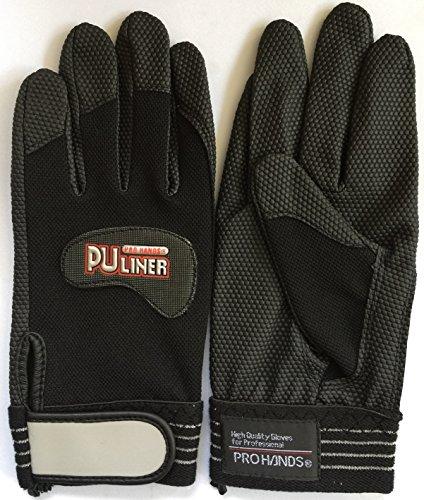 富士グローブ PUライナーアルファブラック 合成皮革手袋 黒色 Lサイズ 10双組 日本製素材使用