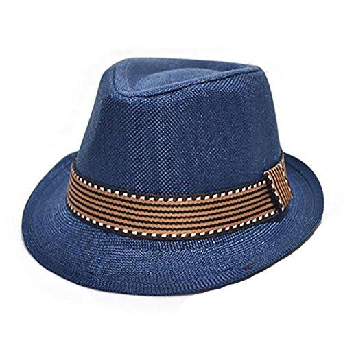 BODHI2000 Cappello Fedora Trilby per bambini, per fotografia e jazz Blu scuro Etichettalia unica