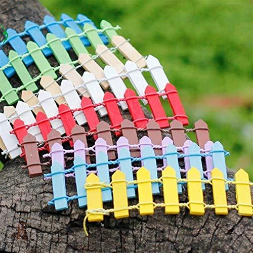 HO-TBO Tuinhek, 10 stks Miniatuur Kleine Hout Hek DIY Fee Tuin Micro Poppenhuis Plant Pot Decoraties Bonsai Terrarium Ornament Voor Thuis Eenvoudig in te stellen