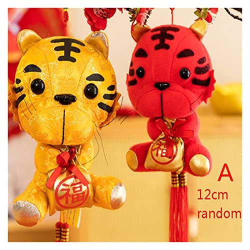 16 Estilos año del año de Tigre Zodiaco Tigre Juguetes Colgantes regales aleatorios for huéspedes Tigre Mascota Regalo (Color : A1-1PC)