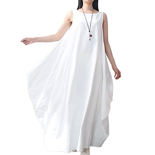 Plus Size White Maxi Dress: Amazon.com