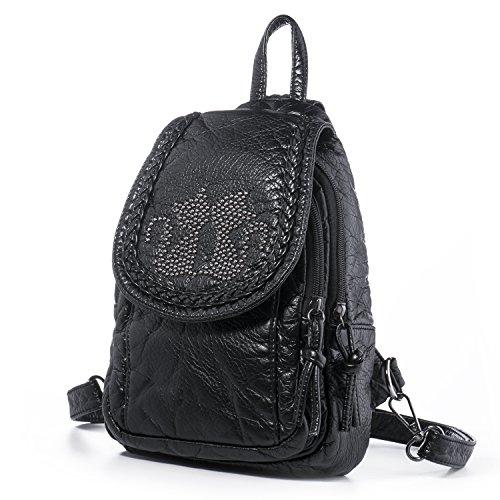 Katloo Mini Rucksack Handtaschen Damen Kleine Teen Mädchen Backpack für Schule PU Leder...