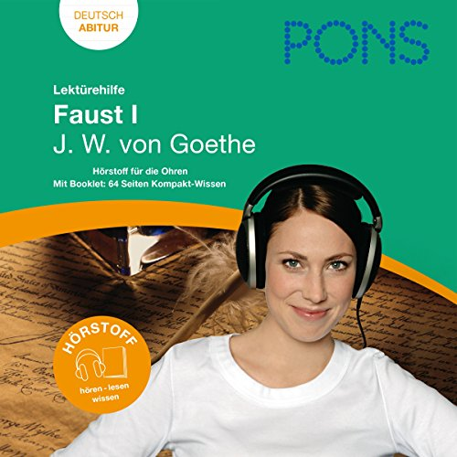 Faust I - Goethe Lektürehilfe. PONS Lektürehilfe - Faust I - J.W. von Goethe Titelbild