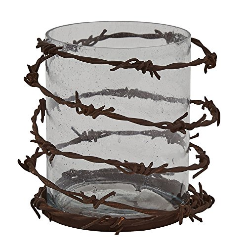Park Designs Barbed Wire Pillar Candle Holder