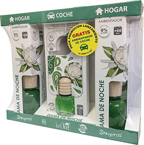 AMBIFYLTER® Pack Premium - 2 Ambientadores Hogar + 1 Ambientador de Coche Gratis Dama DE Noche