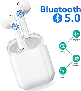 Wireless Earbuds Bluetooth Cordless Headphones Stereo Earphones Mini Sports Headsets for iOS iPhone Xs Max/XS/XR/X/8/7/6s and Android Galaxy Samsung S10/S9 Plus/S8/S8/S7/S7