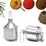 cocaine grinder - Powder Spice Grinder Fine Hand Mill Funnel Grinder for Powder by Mocossmy(Sliver 1 pc)
