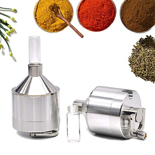 DmHirmg Powder Spice Grinder Hand Mill Funnel (Sliver 1 pc)