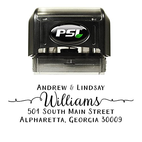 Pretty Custom Personalized Self Inking Return Address Stamp - Great Wedding, Housewarming, Teacher, or Client Gift