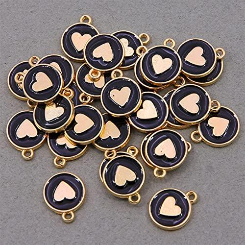 Accesorios de pulsera Aleación de zinc Redonda Breloques, 12x15mm, 10 habitaciones, mini bellocies con forma de C, para bricolaje, collares, pulseras, accesorios de joyería ( Couleur : 10pcs style 2 )