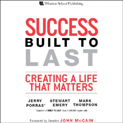 Success Built to Last audiobook cover art
