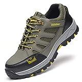 Zapatos de Trabajo Zapatos de Trabajo antipinchazos en la Parte Inferior del tendón de Res, Zapatos Viejos Ligeros con Puntera de Acero for Hombres, Zapatos de Seguridad for el Uso del Desodorante de