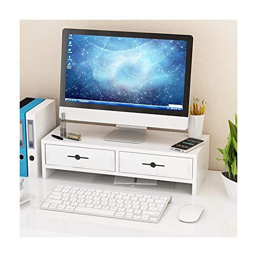 Almacenamiento creativo, la pantalla de la computadora del cuello aumenta la caja de almacenamiento del teclado de escritorio de la base del monitor LCD de la oficina para ahorrar espacio (color: bla
