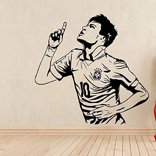 fdgdfgd Neymar Fußballspieler Wandaufkleber Sportwagen Aufkleber Kinderzimmer Poster Vinyl Neymar Fußballspieler Aufkleber | Fußballaufkleber | Kinderzimmer 100x100cm
