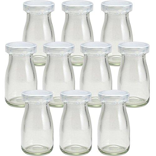 ヨーグルト80 PE CAPヨーグルト瓶 プリン瓶 -10本セット-