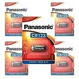 Panasonic CR123A, CR123 Photo Power Lithium Battery 5 pcs.