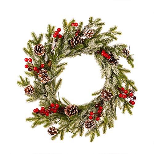 Guirnalda de macabolo, corona de pino con conos, guirnalda de Navidad artificial para fiesta en casa