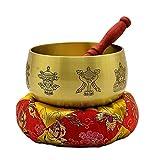DLVKHKL Cuenco tibetano de Buda con campana de bronce tibetano, cuenco de sonido de Buda de bronce tibetano, cuenco de sonido de Buda (tamaño : 4 pulgadas)