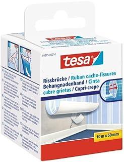 tesa Cache Fissures - Ruban Adhésif non Tissé Souple pour la Réparation des Fissures et des Joints - 10 m x 50 mm