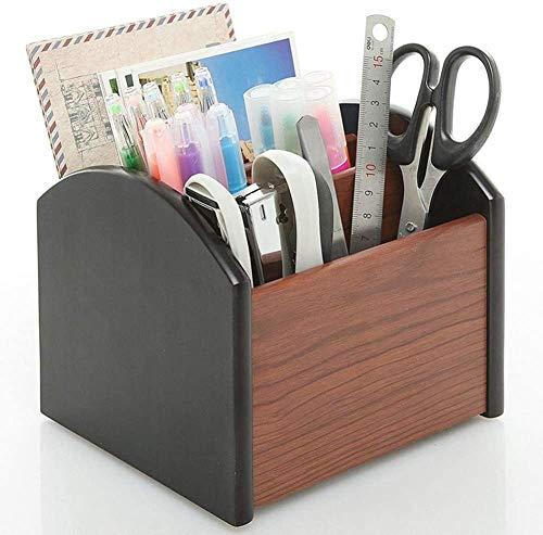 JWCN Schreibtischzubehör Organizer Holzstifthalter Schreibtischorganisator Büro Büro Stifthalter Holzsortierer Schreibwaren Aufbewahrungsstift Container Organizer Uptodate