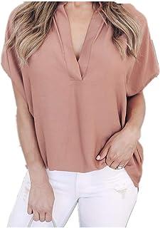 N\P Damen Tops und Blusen Frauen Sommer Chiffon Kurzarm Casual Shirt Tops Lady Bluse Tee Shirt Frauen Tops