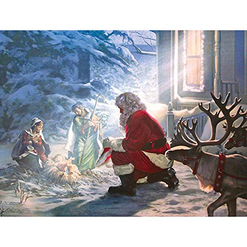 5D DIY European Style Diamond Painting Santa Claus Homage to The Birth of Jesus Full Diamond Handmade Gift Diamond Embroidery Decoration