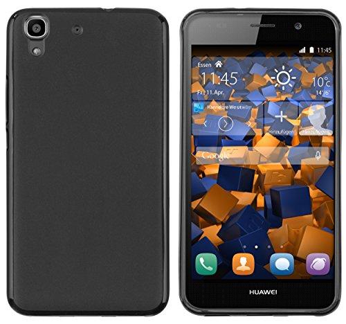 mumbi Hülle kompatibel mit Huawei Y6 2015 Handy Case Handyhülle, schwarz