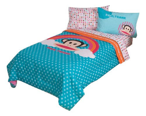 Paul Frank Julius Rainbow Dots 64' x 86' Comforter, Twin