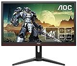 AOC G2868PQU 71,1 cm (28 Zoll) Monitor (VGA, HDMI, USB-Hub, DiplayPort, 1 ms Reaktionszeit, 3840x2160, 60 Hz) schwarz