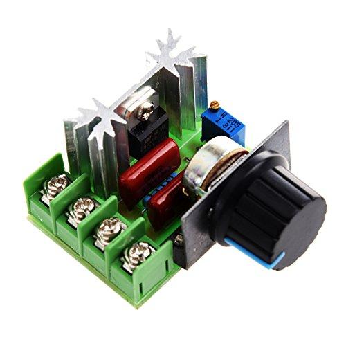 Cikuso Regulateur de tension voltage controleur vitesse dimmer SCR 2000W AC 220V