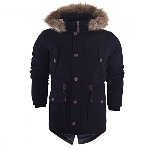 399730797188c Island Trading Mens Heavy Weight Cotton Parka Winter Coat Fur Fishtail Long  Jacket