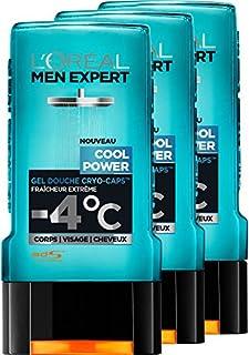 L'Oréal Men poder experto fresco Gel de Ducha Frescura Detalle de Hombres 300 ml - juego de 3