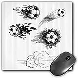 Mouse Pad Gaming Funcional Conjunto de deportes Alfombrilla de ratón gruesa impermeable para escritorio Varias pelotas de fútbol redondas en el aire Disparos rápidos Disparos en Flame Kickoff Space Ar