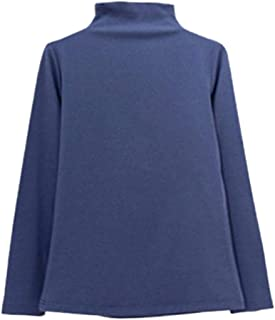 Women's Long Sleeve Turtleneck T-Shirt Basic Solid Slim Fit Top and Blouse