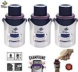 Bar Amigos Triple Value Pack di 3 Champagne Pressure Stopper - Pressione Tappo Vino Pompetta Pompa...