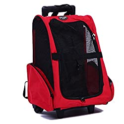 Pettom Pet Rolling Carrier Backpack