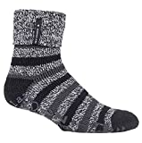 HEAT HOLDERS - Herren-Bettsocken, warm, mit Thermo-Fleece-Futter, rutschfeste Gummigriffe Gr. 39-45, Black (Whittaker)