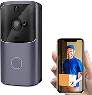 Goglor Wireless Video Doorbell, 720P HD Smart WiFi Doorbell Camera Home Security System with PIR Motion Detection, Night V...