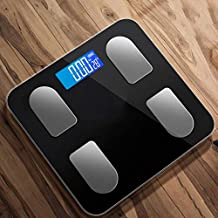 NYDZDM High Accuracy Skidproof Digital Body Weight Bathroom Scale, Electronic Scale with Step-On Technology,180kg Capacity, Backlight LED Display (Color : Black)